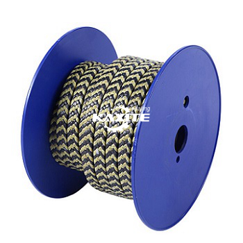 Grafiit PTFE ja Aramiid Fiber Zebra Braided Packing